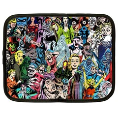Vintage Horror Collage Pattern Netbook Case (Large)