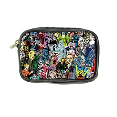 Vintage Horror Collage Pattern Coin Purse