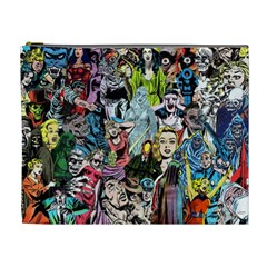 Vintage Horror Collage Pattern Cosmetic Bag (xl)