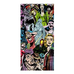Vintage Horror Collage Pattern Shower Curtain 36  X 72  (stall)