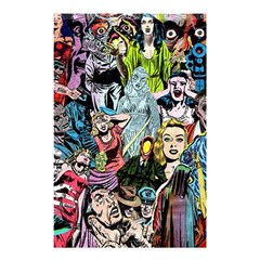 Vintage Horror Collage Pattern Shower Curtain 48  X 72  (small)