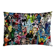 Vintage Horror Collage Pattern Pillow Case (two Sides)