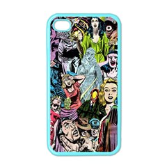 Vintage Horror Collage Pattern Apple Iphone 4 Case (color)