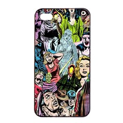 Vintage Horror Collage Pattern Apple iPhone 4/4s Seamless Case (Black)