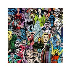 Vintage Horror Collage Pattern Acrylic Tangram Puzzle (6  X 6 )