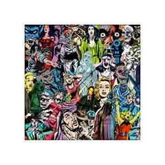 Vintage Horror Collage Pattern Acrylic Tangram Puzzle (4  X 4 )