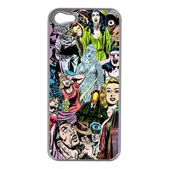 Vintage Horror Collage Pattern Apple Iphone 5 Case (silver)