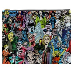 Vintage Horror Collage Pattern Cosmetic Bag (XXXL)