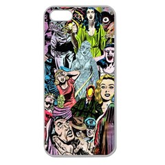 Vintage Horror Collage Pattern Apple Seamless iPhone 5 Case (Clear)