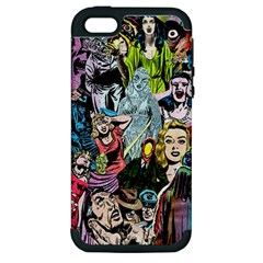 Vintage Horror Collage Pattern Apple Iphone 5 Hardshell Case (pc+silicone)