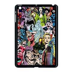Vintage Horror Collage Pattern Apple iPad Mini Case (Black)