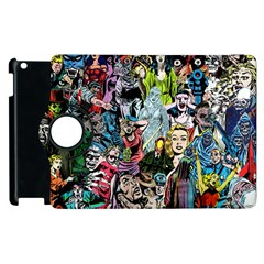 Vintage Horror Collage Pattern Apple Ipad 3/4 Flip 360 Case