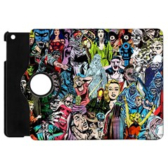 Vintage Horror Collage Pattern Apple Ipad Mini Flip 360 Case