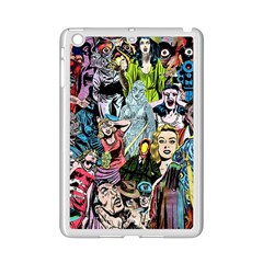 Vintage Horror Collage Pattern iPad Mini 2 Enamel Coated Cases