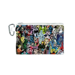 Vintage Horror Collage Pattern Canvas Cosmetic Bag (s)