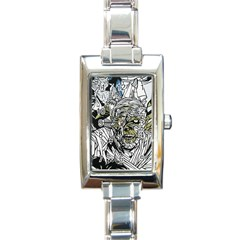 The Monster Squad Rectangle Italian Charm Watch