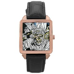 The Monster Squad Rose Gold Leather Watch