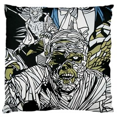 The Monster Squad Large Flano Cushion Case (Two Sides)