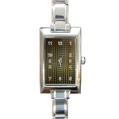Background Colors Of Green And Gold In A Wave Form Rectangle Italian Charm Watch