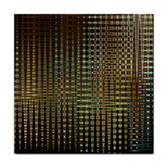 Background Colors Of Green And Gold In A Wave Form Tile Coasters