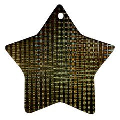 Background Colors Of Green And Gold In A Wave Form Ornament (star)