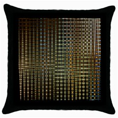 Background Colors Of Green And Gold In A Wave Form Throw Pillow Case (Black)