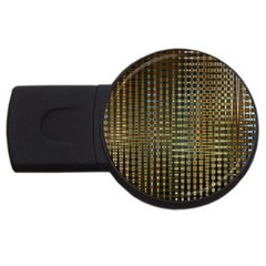 Background Colors Of Green And Gold In A Wave Form Usb Flash Drive Round (2 Gb)
