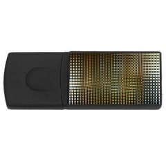 Background Colors Of Green And Gold In A Wave Form USB Flash Drive Rectangular (2 GB)