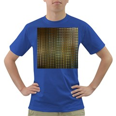 Background Colors Of Green And Gold In A Wave Form Dark T Shirt