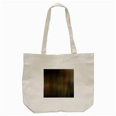 Background Colors Of Green And Gold In A Wave Form Tote Bag (cream)