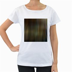 Background Colors Of Green And Gold In A Wave Form Women s Loose Fit T Shirt (white)
