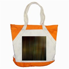 Background Colors Of Green And Gold In A Wave Form Accent Tote Bag