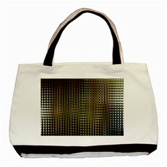 Background Colors Of Green And Gold In A Wave Form Basic Tote Bag (two Sides)