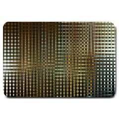 Background Colors Of Green And Gold In A Wave Form Large Doormat