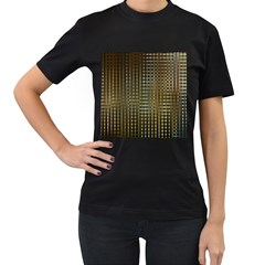 Background Colors Of Green And Gold In A Wave Form Women s T Shirt (black)