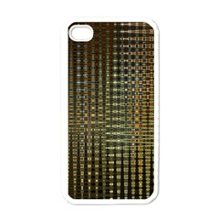 Background Colors Of Green And Gold In A Wave Form Apple Iphone 4 Case (white)