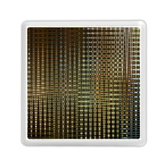 Background Colors Of Green And Gold In A Wave Form Memory Card Reader (square)