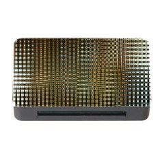 Background Colors Of Green And Gold In A Wave Form Memory Card Reader With Cf
