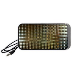Background Colors Of Green And Gold In A Wave Form Portable Speaker (Black)
