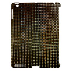 Background Colors Of Green And Gold In A Wave Form Apple iPad 3/4 Hardshell Case (Compatible with Smart Cover)