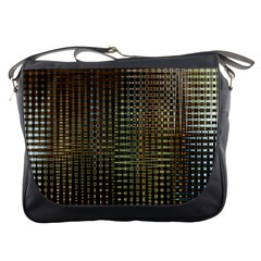 Background Colors Of Green And Gold In A Wave Form Messenger Bags