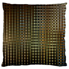 Background Colors Of Green And Gold In A Wave Form Large Cushion Case (One Side)