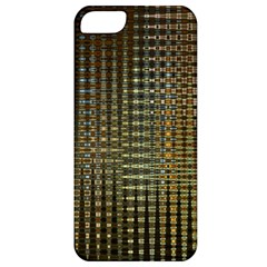 Background Colors Of Green And Gold In A Wave Form Apple Iphone 5 Classic Hardshell Case