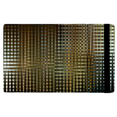 Background Colors Of Green And Gold In A Wave Form Apple iPad 2 Flip Case