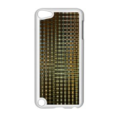 Background Colors Of Green And Gold In A Wave Form Apple iPod Touch 5 Case (White)