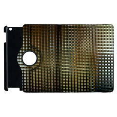 Background Colors Of Green And Gold In A Wave Form Apple iPad 3/4 Flip 360 Case