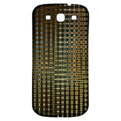 Background Colors Of Green And Gold In A Wave Form Samsung Galaxy S3 S Iii Classic Hardshell Back Case