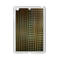 Background Colors Of Green And Gold In A Wave Form Ipad Mini 2 Enamel Coated Cases