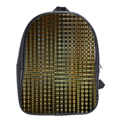 Background Colors Of Green And Gold In A Wave Form School Bags (xl)