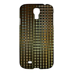 Background Colors Of Green And Gold In A Wave Form Samsung Galaxy S4 I9500/i9505 Hardshell Case